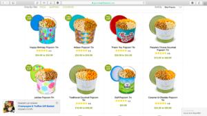 Popcorns sur Gourmetgiftbaskets.com