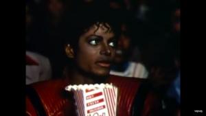 Michael Jackson, Thriller (Music Video). Réalisé par John Landis, produit par George Folsey, Jr. Michael Jackson et John Landis. © 1983 MJJ Productions