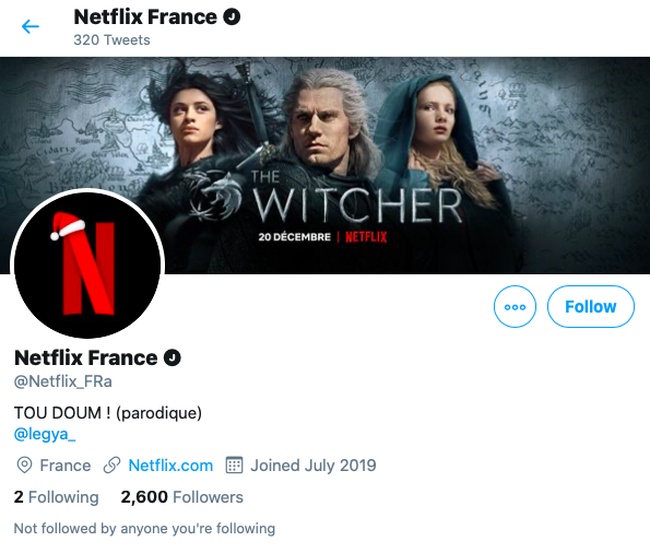 Faux compte Netflix France